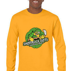 Lakeland Shamrock Shirt - Long Sleeve Gold