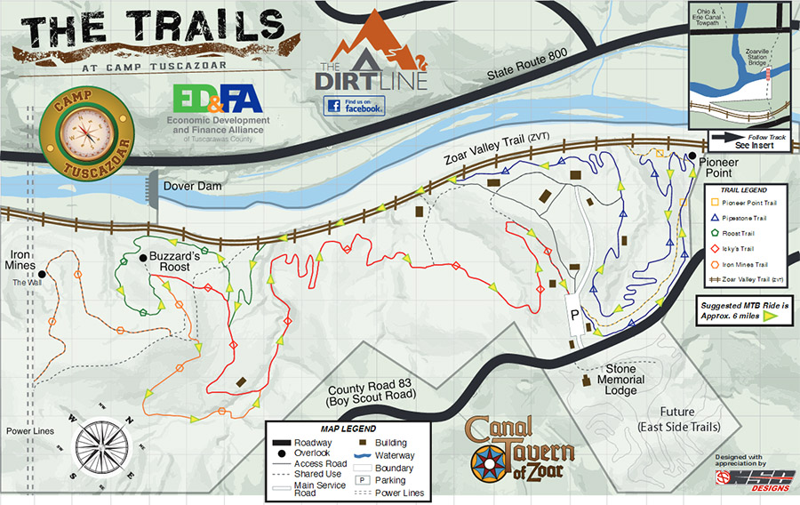 Camp Tuscazoar Mountain Bike Trail Map