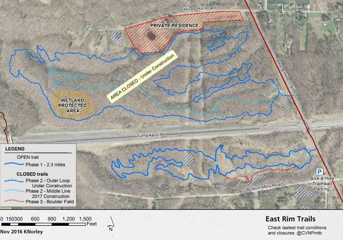 East Rim Trail Map