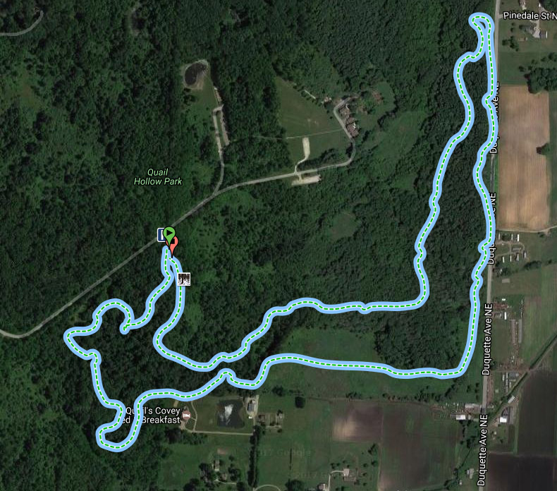 Quail Hollow State Park Mountain Bike Trail Map