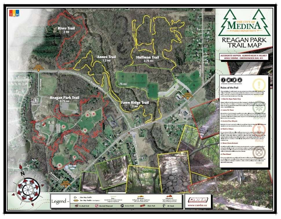 Reagan Huffman Medina Mountain Bike Trail Map