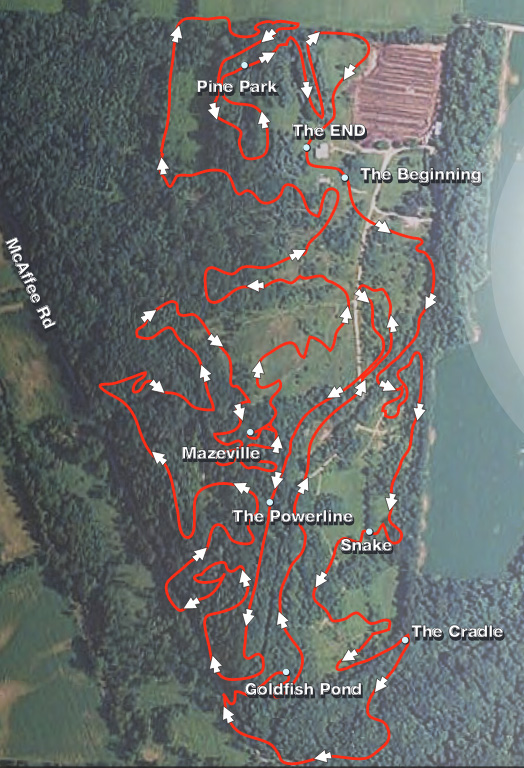 Vultures Knob Mountain Bike Trail Map