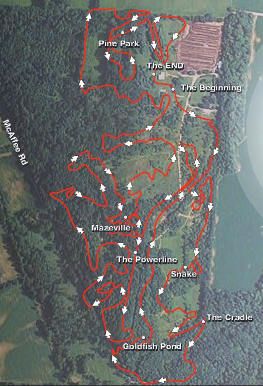 Vultures Knob Mountain Bike Trail Map