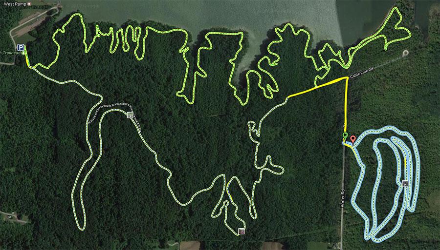 West Branch Quarry Trail Map