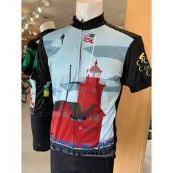 Cross Country Cycle Big Red Lighthouse RBX Jersey Mens