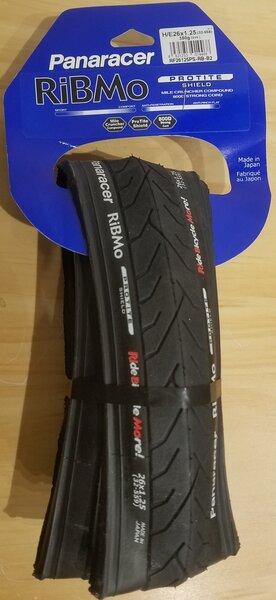 Panaracer DEAL Panaracer RiBMo ProTite Tire - 26x1.25, Clincher, Folding, Black, 60tpi