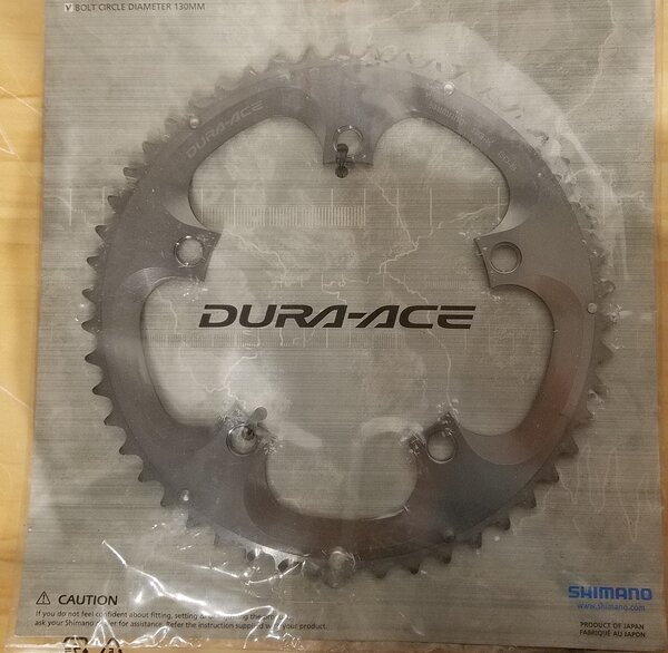 Shimano DEAL Shimano Dura-Ace FC-7800 10-Speed B-Type Chainring 130 BCD Silver 50T