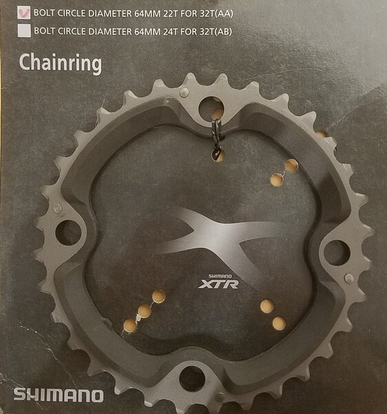Shimano DEAL Shimano XTR FC-M970 AA-Type Chainring 9 Speed 32T