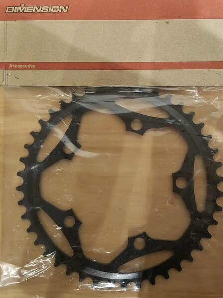 Dimension DEAL Dimension Single Speed Chainring 110 BCD 9 Speed Black 44T