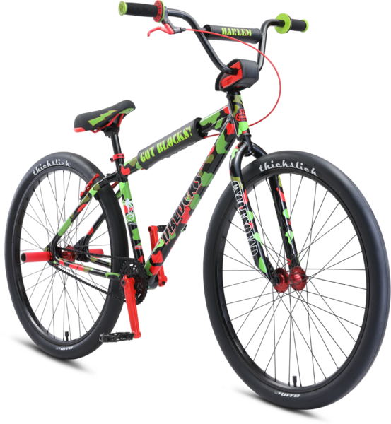 "SE Bikes DBlocks Big Ripper 29"" Color: Green / Red Camo"
