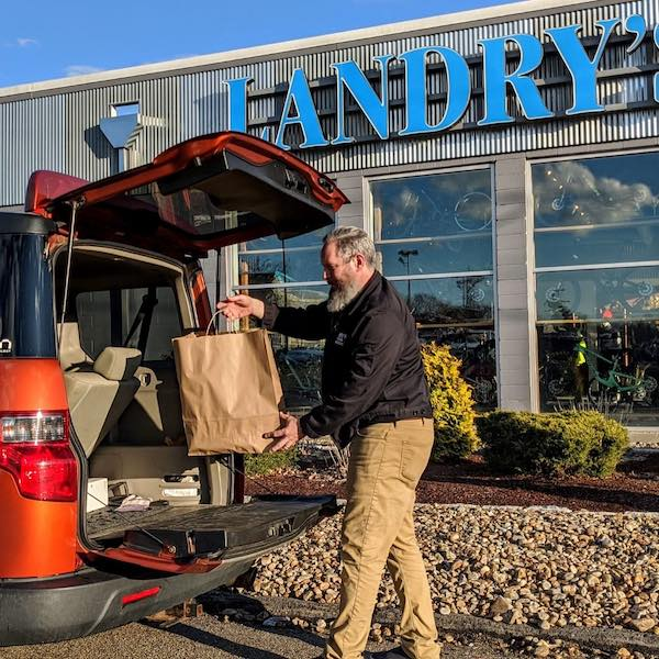 Curbside Pickup at Landry's Store