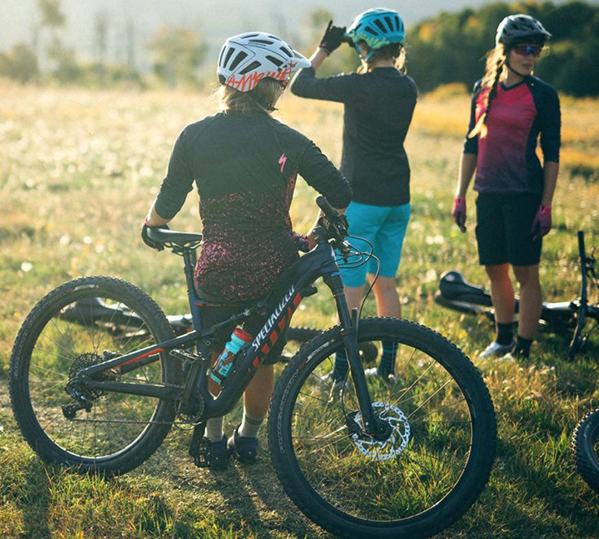 Group Mountain Bikers