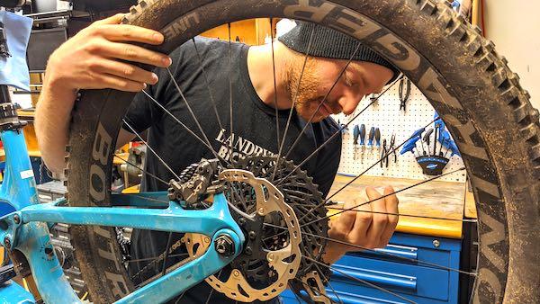 Bike Repair Service at Landry's