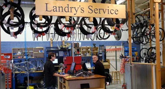 Landry's bike repair shop