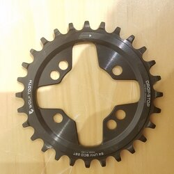 Wolf Tooth Components DEAL Wolf Tooth Components Drop-Stop Chainring: 28T x 64 Universal Mount BCD