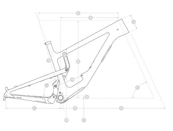 2020 Santa Cruz Nomad geometry diagram