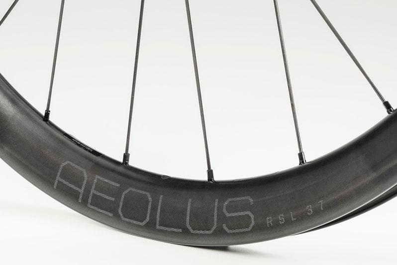 close up of new bontrager aeolus rsl 36 carbon wheels