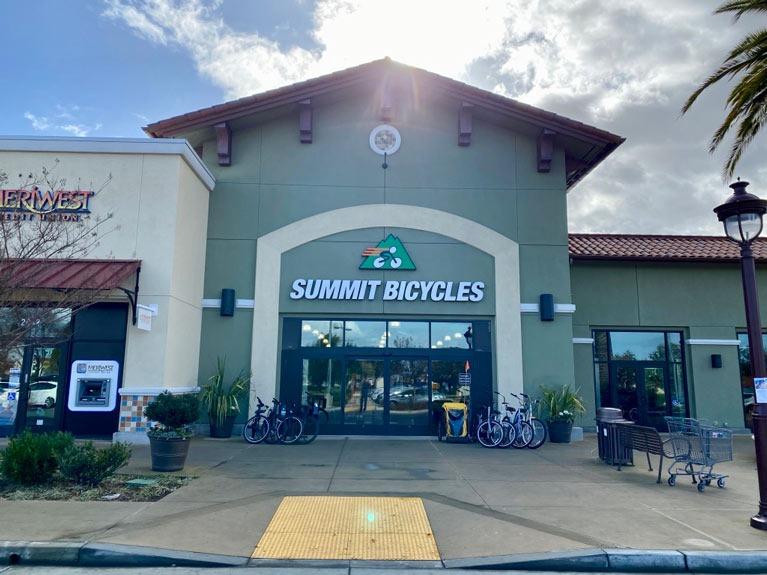 summit bicycles store front santa clara