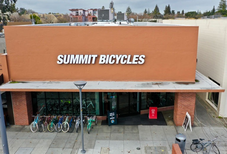 summit bicycles storefront palo alto CA