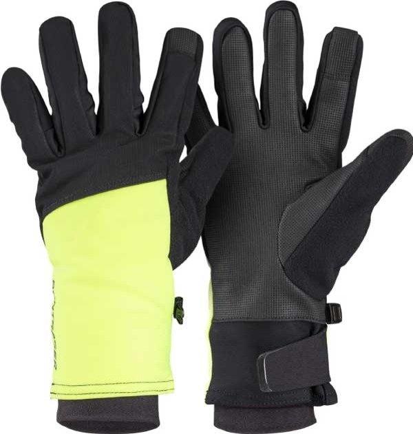 Bontrager Softshell cycling gloves black and yellow