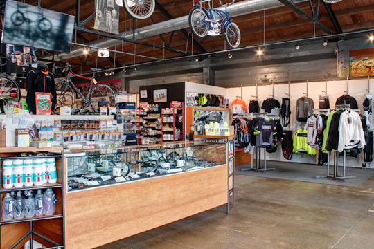 interior of summit bicycles burlingame