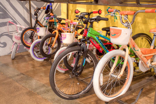 kids bikes on display