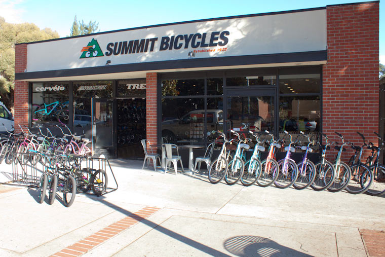 store front at Summit Bicycles in Los Gatos