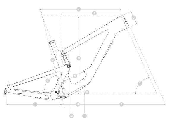 2020 Santa Cruz Hightower geometry diagram