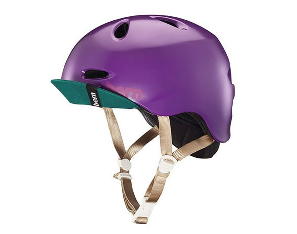Bern Women's Berkeley Helmet w/ Flip Visor Color: Satin Purple