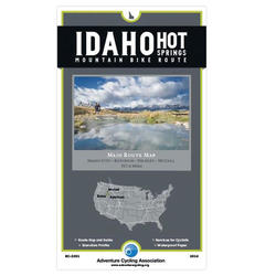 Adventure Maps Inc. Idaho Hot Springs Mountain Bike Main Route Map