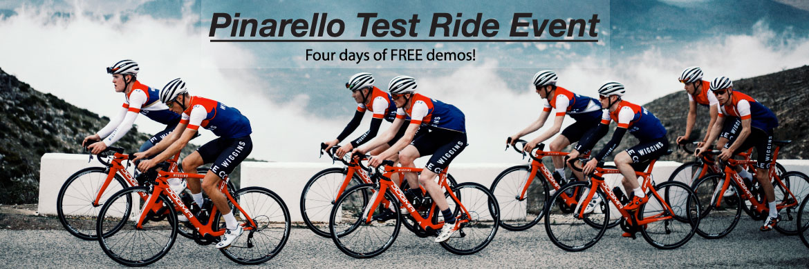 Swing by Labor Day Weekend to test ride a Pinarello!