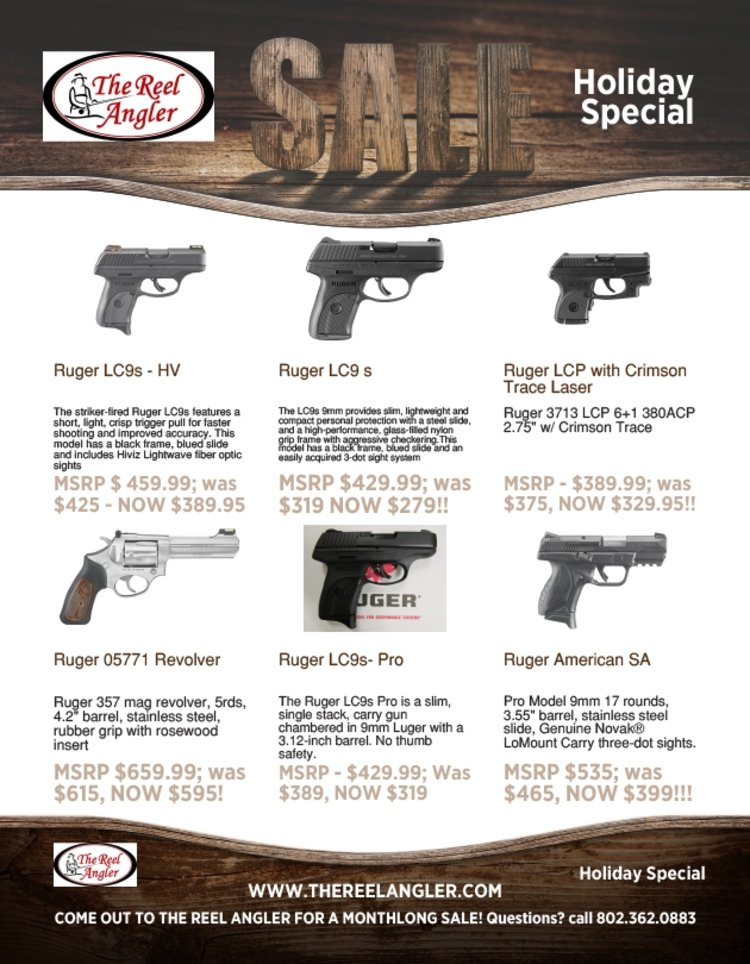 Savings on Ruger in stock