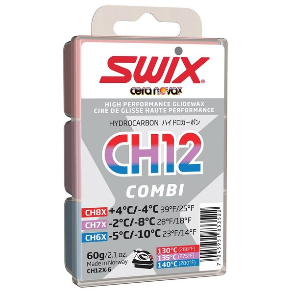 Swix CH12 Hydrocarbon Wax Combo Pack 14 to 39 Degrees F - 60g