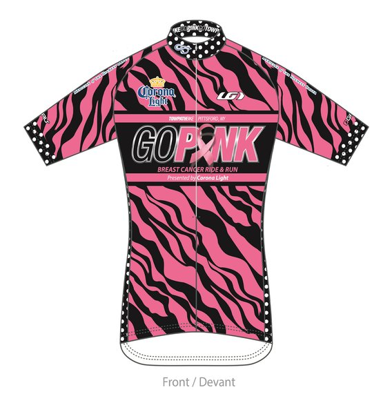 Towpath Bike GO PINK JERSEY 2017