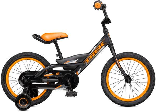 Towpath Bike USED Jet 16 Blk/Orange w/training wheels