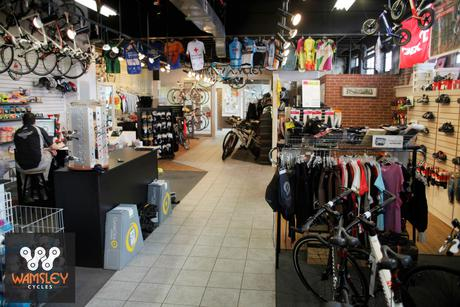 Wamsley Cycles - looking back towards the bike Service Department
