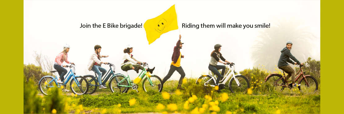 Join the E Bike Brigade graphic