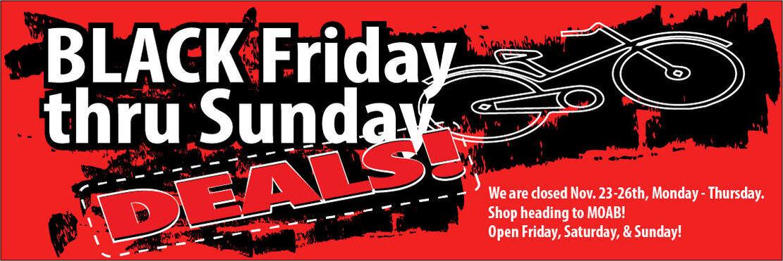 Black Friday at the Spoke Shop