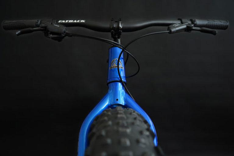 Fatback bike, front view
