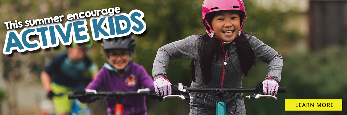 Encourage active kids with cycling