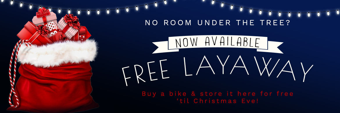 Buy a bike and store it here until Christmas!