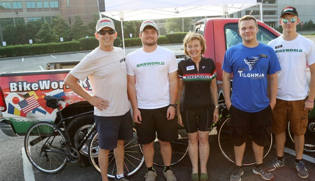 Before the 2018 Spokes for Strokes Ride