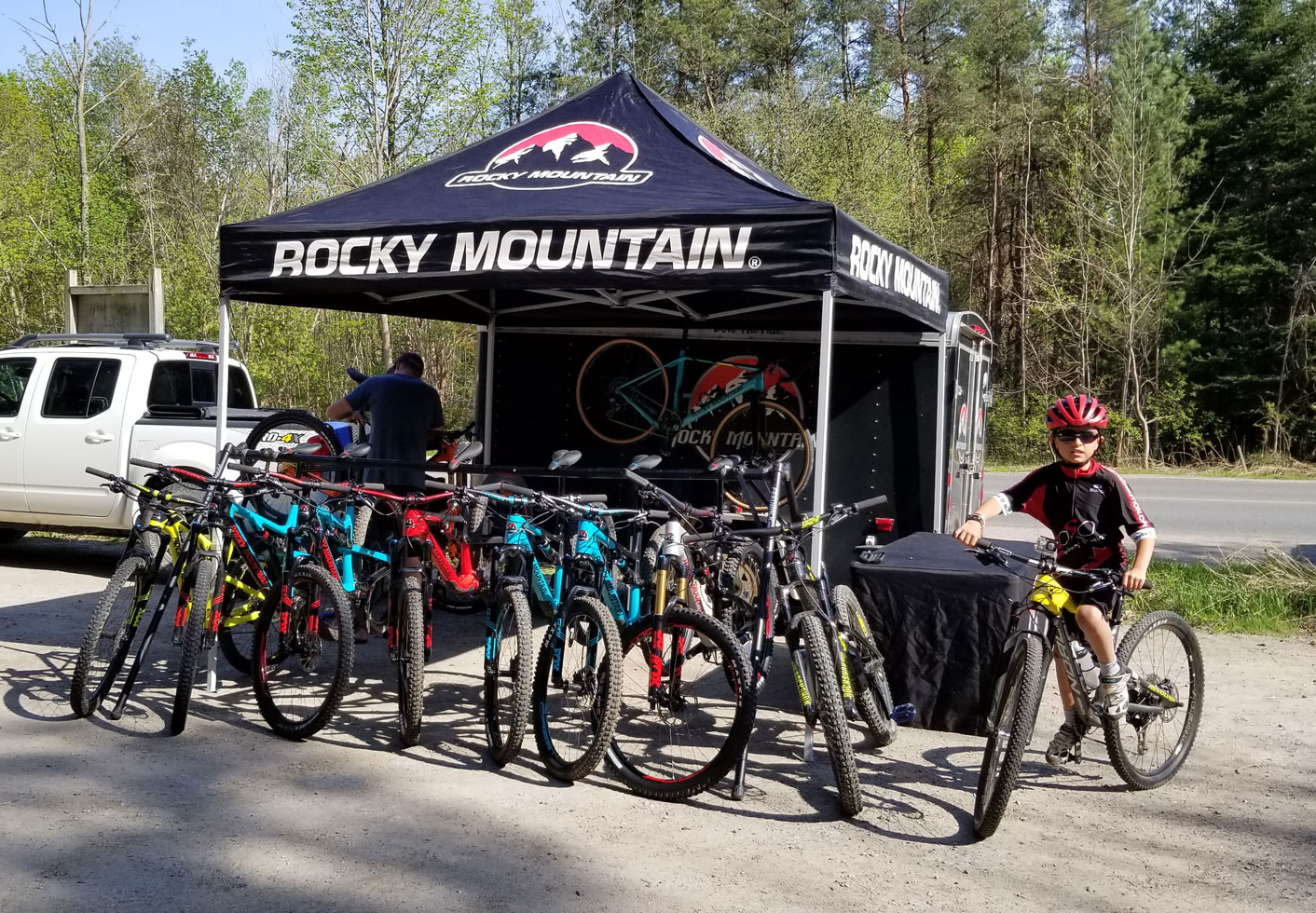 The Rocky Mountain demo drew people from all over to test ride some of the most entertaining platforms available to cyclists today.
