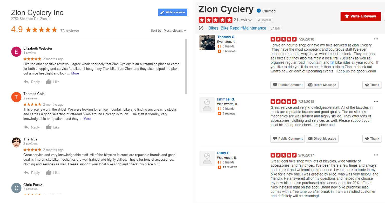 Zion Cyclery - Zion, IL Bike Shop