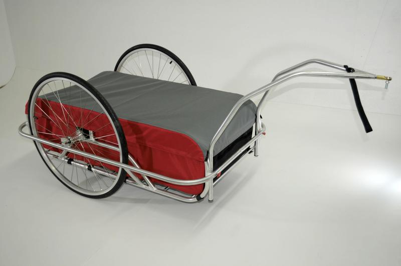 Cycle Tote Large Cargo Trailer in Red/Grey