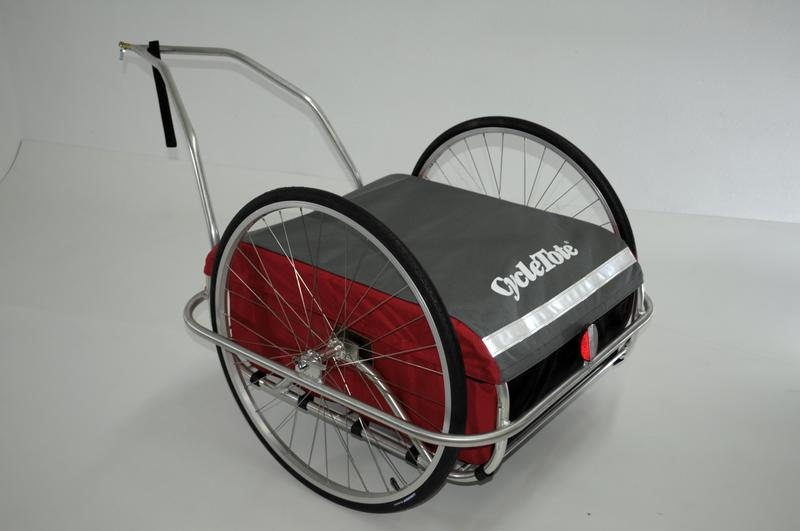 Cycle Tote Small Cargo Trailer in Red/Grey Color