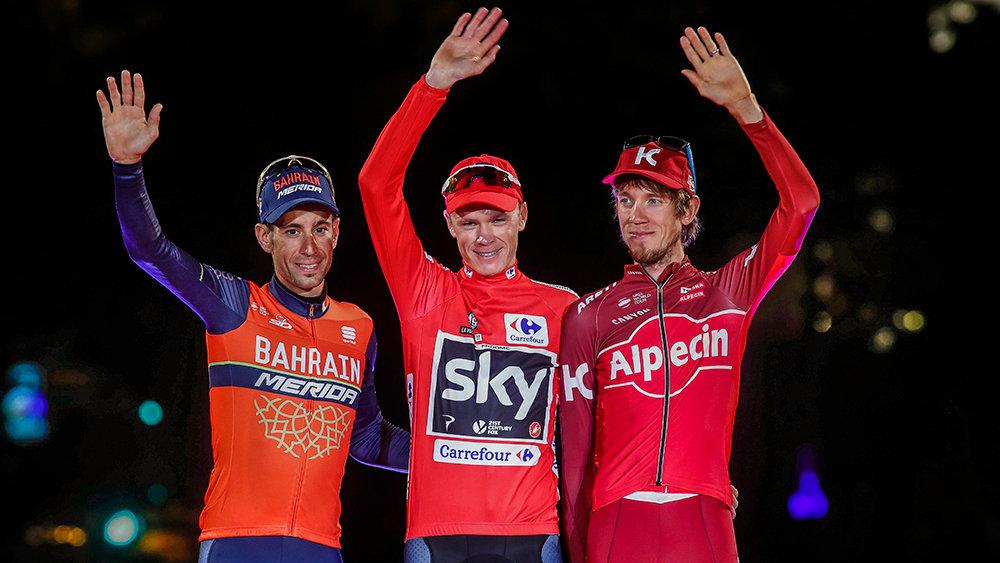 2017 Vuelta a' Espana Podium