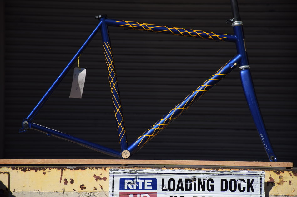 55cm Pegoretti Responsorium in Conic color scheme. In stock at Lakeside Bicycles