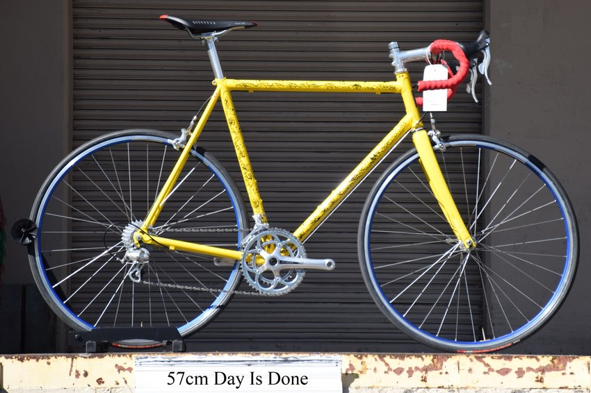 57cm Pegoretti Day Is Done Falz with Athena in the Fiorellin color scheme. In stock at Lakeside Bicycles.