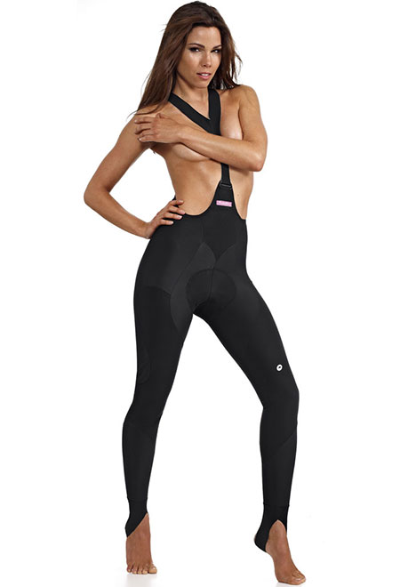 Assos LL Pompa Dour ladies bib tights, available at Lakeside Bicycles